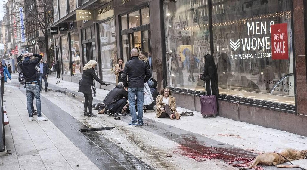 sweden terror attack people and animals dead